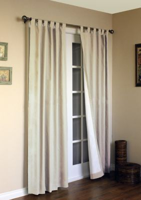 """Commonwealth Weathermate 84/"""" Tab Curtain Panel in White Set of 2"""