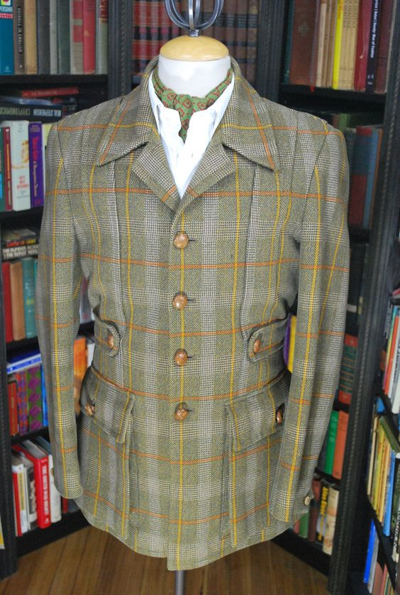 Perfect Norfolk Jacket Windowpane Check Tweed Jacket for sale at