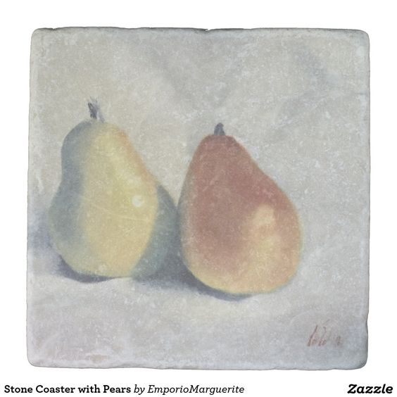 Stone Coaster with Pears