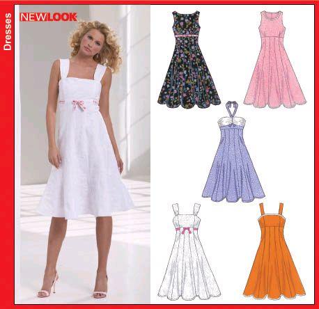 Simplicity Pattern 2249 Womens Casual Dress Top Skirt  eBay ...