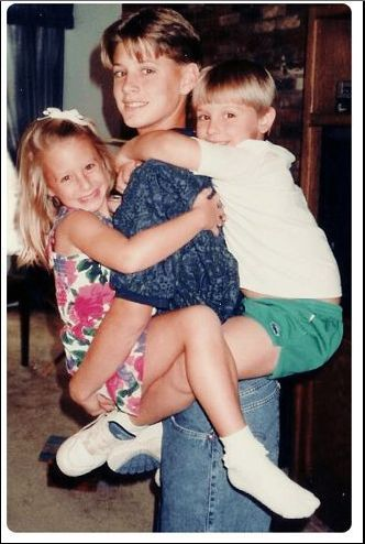 Jensen with his sister Mackenzie--I think-- and another ...