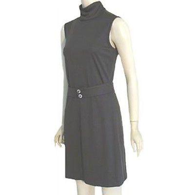 Lilli Diamond 1970s Vintage Slinky Bombshell Mini Dress Glass Buttons | eBay
