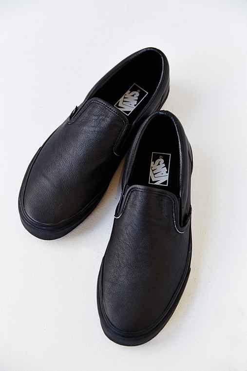 black leather mens vans shoes