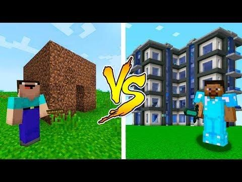 Minecraft Noob Vs Pro House Battle In Minecraft Noob Minecraft Christmas Home