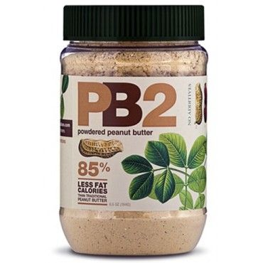 Powdered peanut butter--how cool is this? 85% less fat and calories than standard peanut butter.