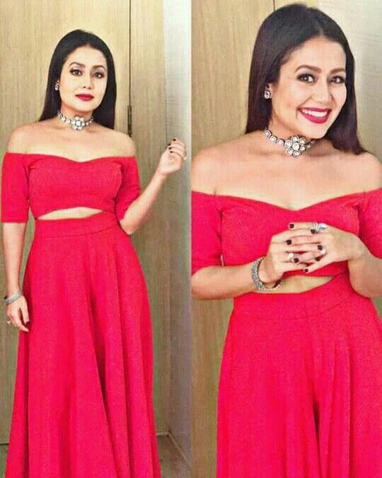 Looking Gorgeous Neha Kakkar Dresses Fashion Attire Dress Indian Style