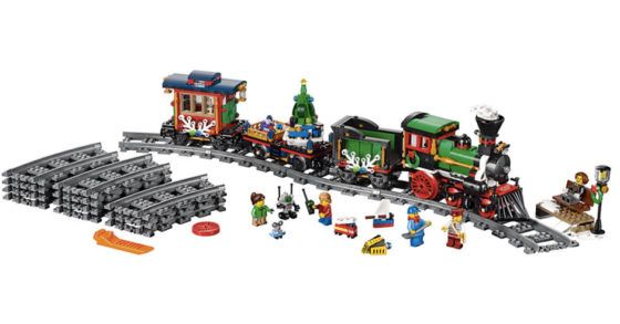 LEGO Winter Holiday Train Set  Mark Your Calendars!  Pre order thisLEGO Winter Holiday Train Set and be the first to have this kind of Lego set! This is also a great Christmas display for your house and once the holidays are over your kids can play with them again!  LEGO Winter Holiday Train Set (Releasing October 1st) $99.99  Includes 5 minifigures: a locomotive driver ticket collector grandmother boy and a girl.  The Winter Holiday Train includes 16 curved pieces of track engine coal…