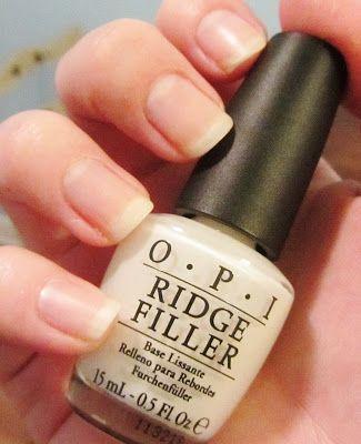 OPI Ridge Filler - milky white base coat