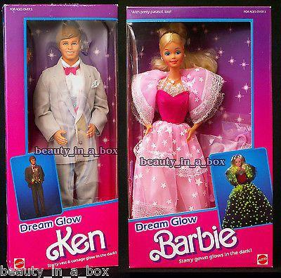 1985 Dream Glow Classic Barbie & Ken Doll NRFB