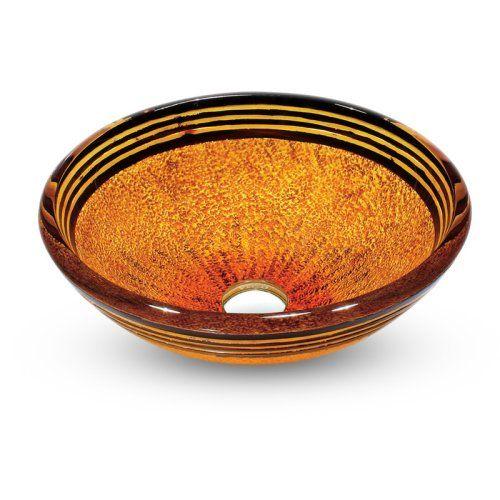 Find it at the Foundary - Vigo VG07011 Tangerine Glass Vessel Sink