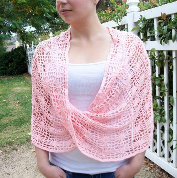 Crochet Infinity Scarf Shawl Wrap Cowl Pattern: The por TheYarnYogi