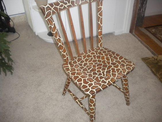 hand painted giraffe print chiar semigloss finish by 216diamond, $75.00