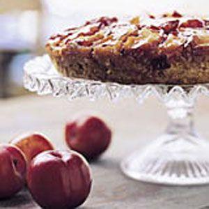 Plum-Almond Upside-Down Cake Recipe : Cooking.com Recipes