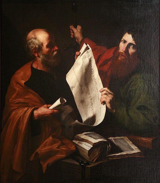 """""""Saint Peter and Saint Paul"""" by Jusepe de Ribera"""