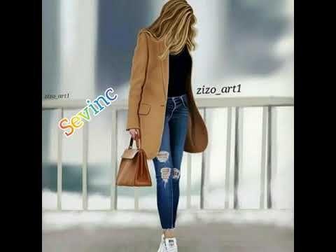 Adlara Gorə Qiz Səkilləri In 2021 Fashion Duster Coat Jackets