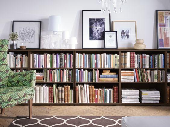 Billy boekenkast ikea boekenkast kast mini library - Ideas decorar salon ...