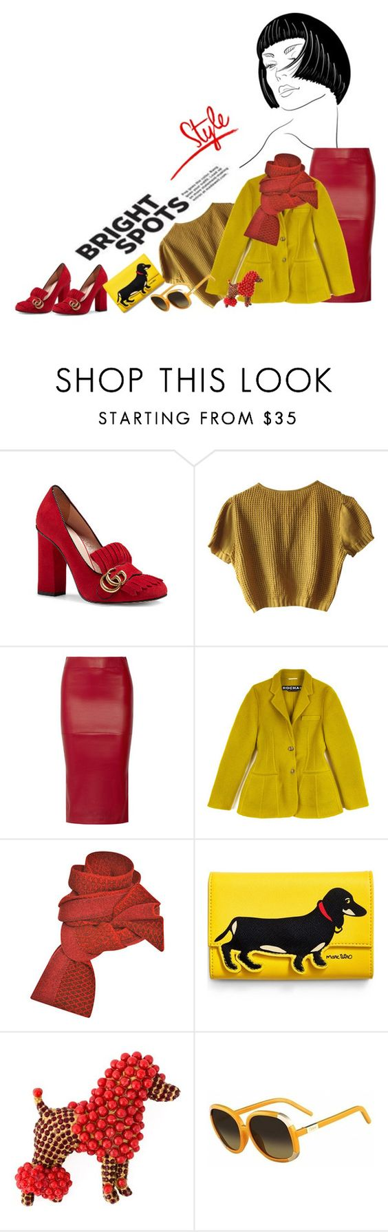 """""""Bright lover of dogs"""" by vinograd24 ❤ liked on Polyvore featuring Gucci, Schumacher, Zero + Maria Cornejo, Rochas, Prabal Gurung, Pupa, Dolce&Gabbana, Chloé and whatsyoursign"""