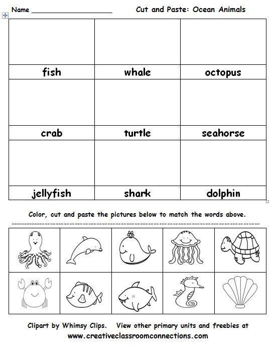 Related Image Ocean Activities Kindergarten Ocean Animals Preschool Ocean Animals Ocean worksheets for preschool