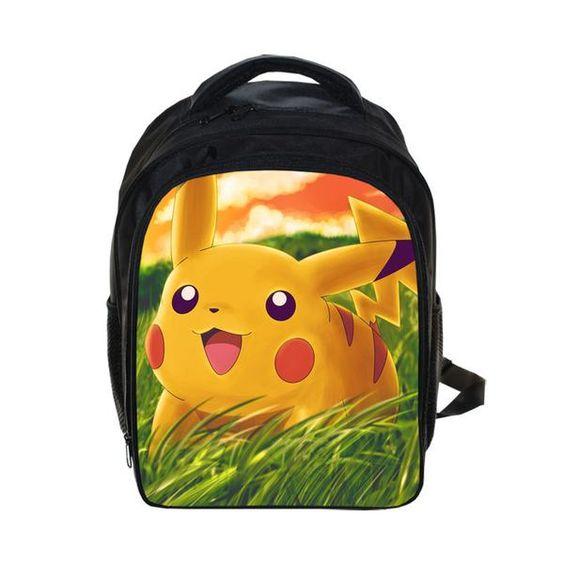 Big Pikachu Pokemon Backpack(35cm x 30cm x 10cm) - Pokemon Backpack for Children