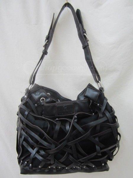 shopgoodwill.com: 017 Etienne Aigner Black Large Leather Purse