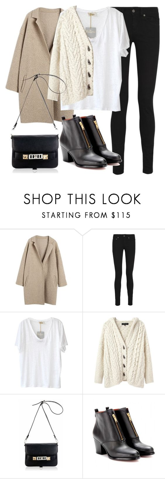 """Untitled #12296"" by florencia95 ❤ liked on Polyvore featuring Yves Saint Laurent, American Vintage, rag & bone, Proenza Schouler and Marc by Marc Jacobs"