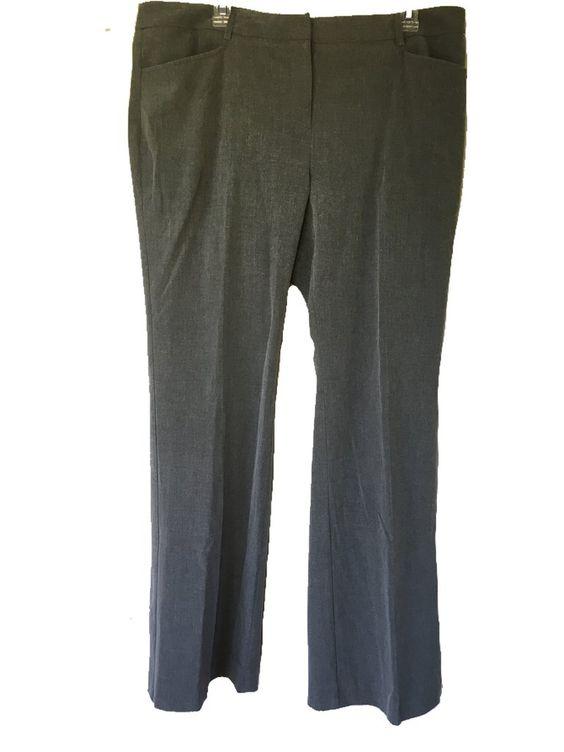 MICHAEL Michael Kors Gramercy Fit Trouser Pants in Gray, Size 14