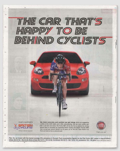 The Car That's Happy To Be Behind Cyclists