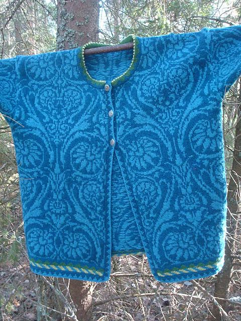 Oleana cardigan ... love the low contrast color choice