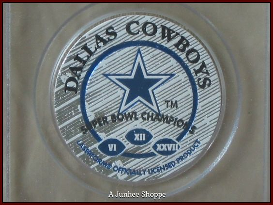 "DALLAS COWVBOYS Football 1993 Set Of 2 Milk Cap POGs ""1 Of 25000"" By Sportcaps  P733  http://ajunkeeshoppe.blogspot.com/"