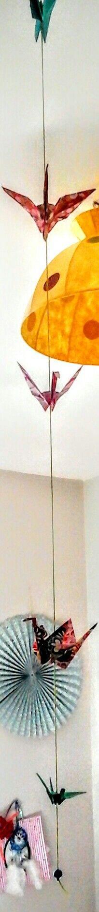 Guirlande de grue en origami
