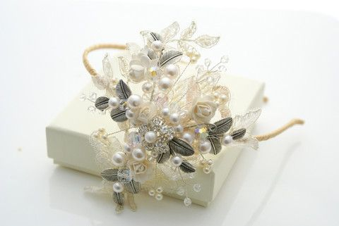 lace side tiara, the Hayworth large £135 - The Modern Vintage Bride, inspired vintage tiaras and wedding accessories