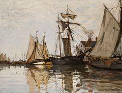 Impressionism Art - The Port of Honfleur by Claude Monet