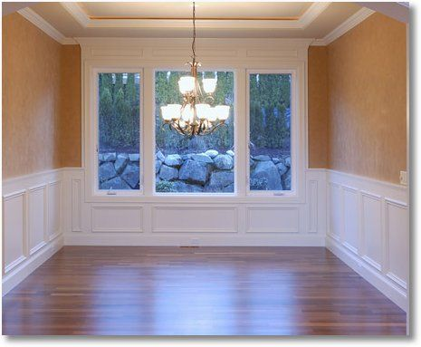 Dining rooms chairs and moldings on pinterest for Dining room molding panels