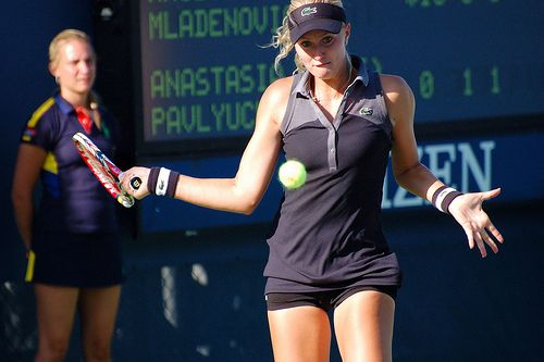 Kristina Mladenovic, 2012 US Open.