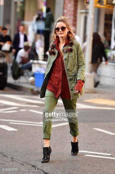 Olivia Palermo seen in SoHo during a photoshoot on October 18 2016 in New York City
