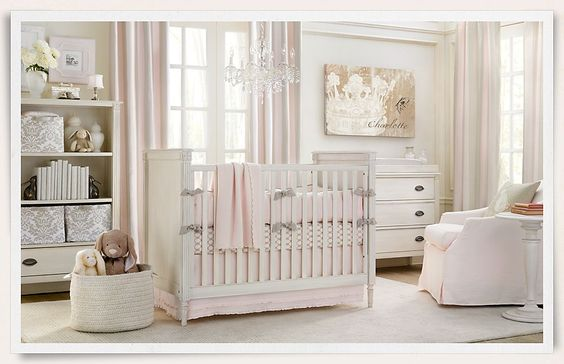 Rooms | Restoration Hardware Baby & Child.  If I could do it all over again...: Baby Nursery Elegant, Baby Girl Nurserys, Baby Girl Rooms, Girls Nursery, Baby S Room, Elegant Baby Nursery Girl, Baby Girls, Baby Rooms, Baby Room Restoration Hardware