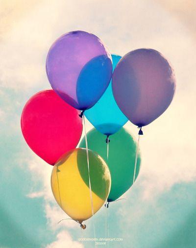 balloons via tumblr redyellowgreenvioletblue