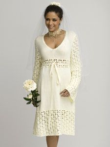 free crochet flower patterns for wedding dress