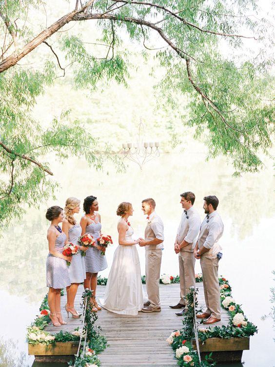 lakeside ceremony | Nancy Ray #wedding