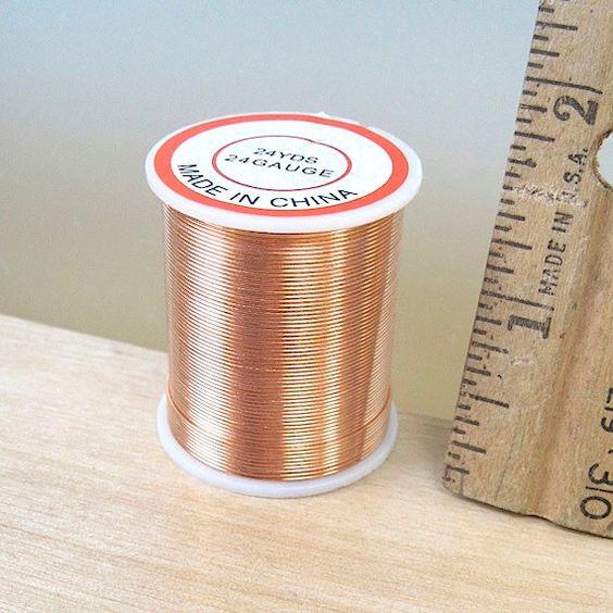 Round Copper Wire 24 Gauge, 24 Yards Dead Soft