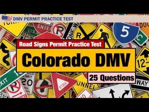 Colorado DMV Road Signs Permit Practice Test 2016