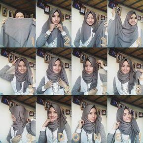 25 Kreasi Tutorial Hijab Segi Empat Simple 2018 Hijab Chic