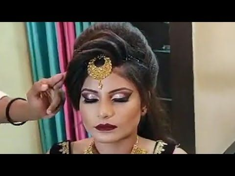 Indian Bridalhairstyle Tutorial Step By Step Advance Hairstyle Youtube Side Braid Hairstyles Bridal Hairstyle Indian Wedding Indian Hairstyles