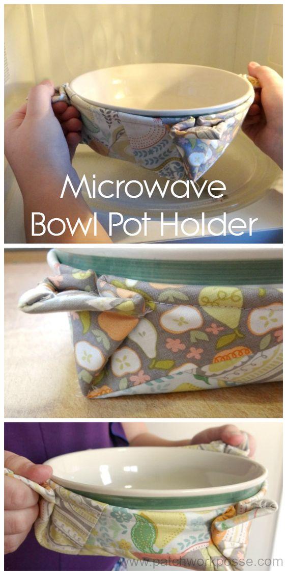 microwave bowl pot holder: