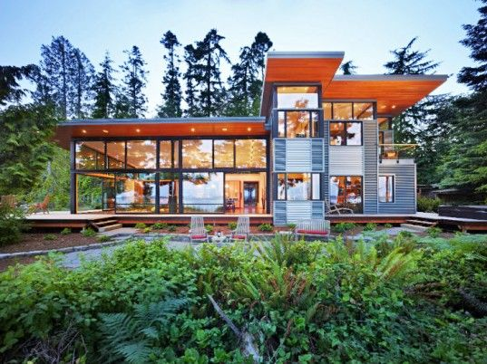 Port Ludlow Residence is a Modern & Simple Green Home on Puget Sound