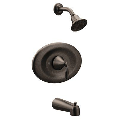 Moen Eva Conversion Tub And Shower Faucet With Metal Lever Handle