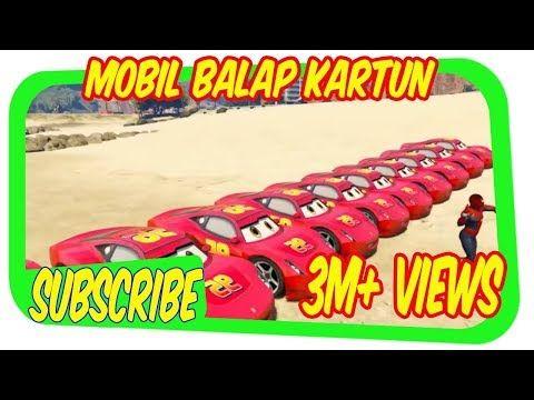 Mobil Balap Kartun Mcqueen Transportasi Dan Spiderman Mobil Balap Kartun Car Games For Children Youtube Spiderman Mobil Balap Pembalap