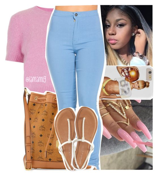 """""""she's a bad thing, fine as h*ll. thick as f*ck"""" by lamamig ❤ liked on Polyvore featuring Topshop, MCM and Aéropostale"""