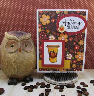 Handmade card by Sandi Pressley using the Latte Love digital set from Verve. #vervestamps