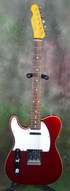 Fender Reissue '62 Left-handed Telecaster, MIJ, bound edge, Metallic Red | Reverb